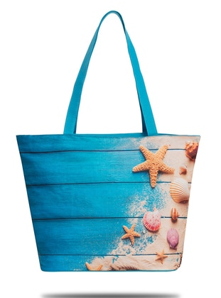 Satchel - Blue - Beach Bags - Fudela