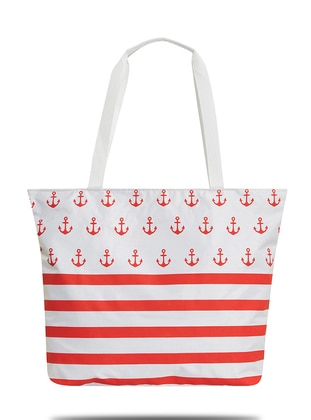 Satchel - Red - White - Beach Bags