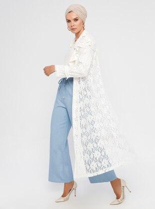 White - Unlined - Shawl Collar - Jacket