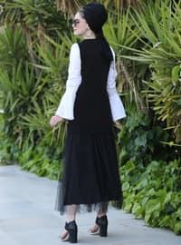 Black - Multi - Unlined - Vest