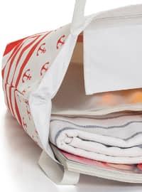 Satchel - Red - White - Beach Bags