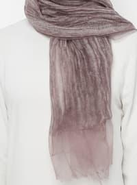 Brown - Plain - Acrylic - Shawl