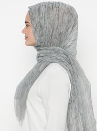 Gray - Plain - Acrylic - Shawl