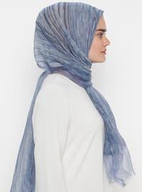 Blue - Plain - Acrylic - Shawl