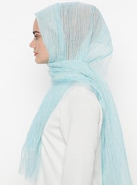 Blue - Plain - Acrylic - Shawl