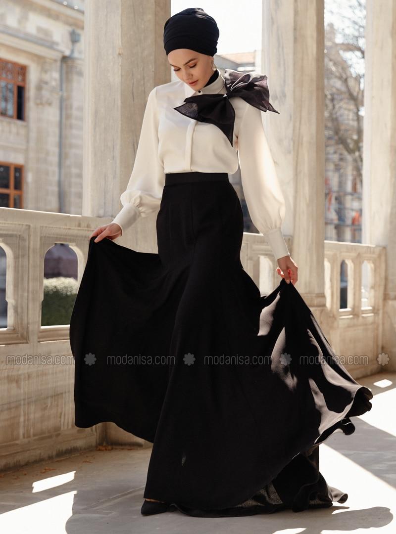 Unlined - Black - Evening Skirt