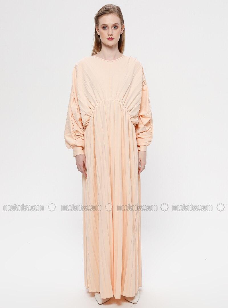 ca275f59bcdf1 Beige - Crew neck - Unlined - Maternity Dress
