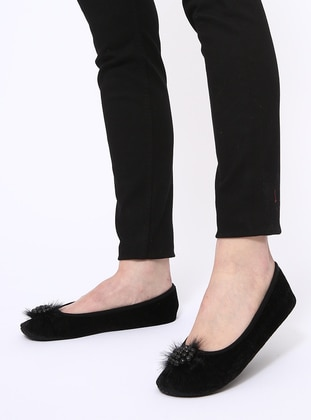 Black - Flat - Flat Shoes - Eterlik