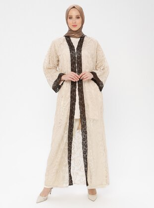 Beige - Unlined - Abaya