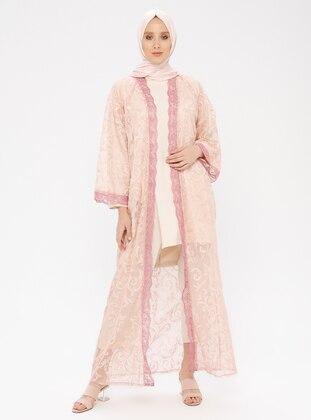 Pink - Unlined - Abaya