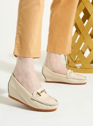 Beige - Flat - High Heel - Shoes