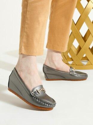Silver - Flat - High Heel - Shoes