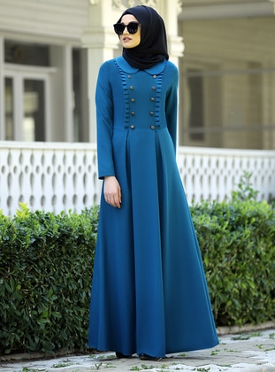 Saxe - Point Collar - Unlined - Crepe - Dress