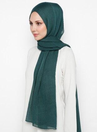 Green - Plain - Cotton - Shawl