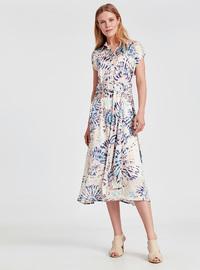Printed - Ecru - Dress