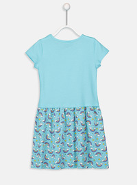 Printed - Turquoise - Girls` Dress
