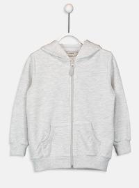 Gray - Girls` Sweatshirt