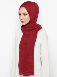 Maroon - Plain - Cotton - Shawl