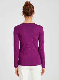 Crew neck - Purple - T-Shirt