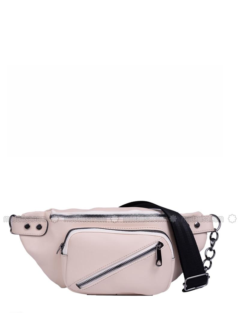 Beige - Satchel - Bum Bag