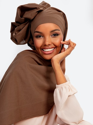 Aden Cotton Shawl - Brown