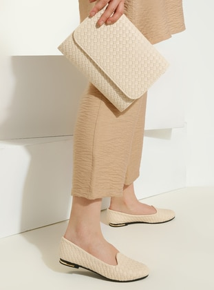 Beige - Beige - Flat - Suit - Just Shoes