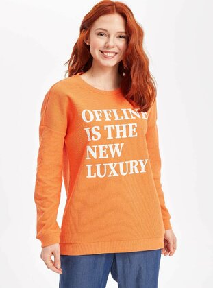 Orange - Girls` Tunic - DeFacto