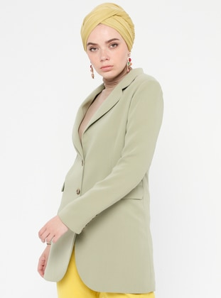 Green - Fully Lined - Shawl Collar - Jacket