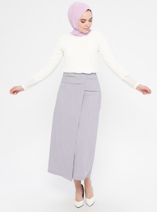 Lilac - Fully Lined - Cotton - Skirt