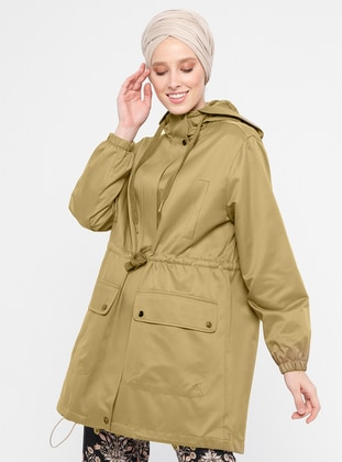 Olive Green - Fully Lined - Cotton - Topcoat