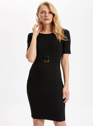 Black - Girls` Dress - DeFacto