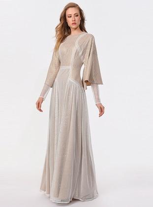 White - Beige - Dress