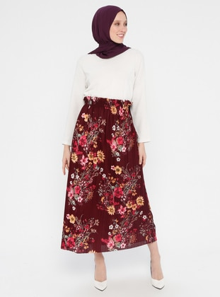 52c295feb390 Cherry - Floral - Unlined - Skirt