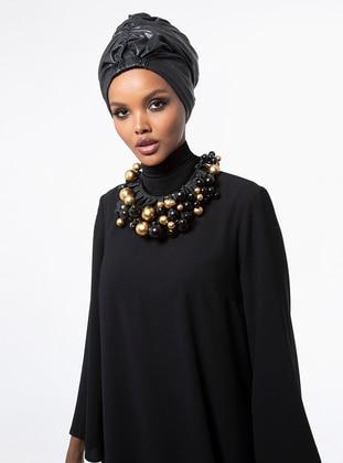 Razan Turban - Black Faux Leather