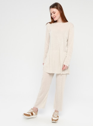 Cotton - Beige - Loungewear Suits