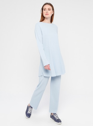 Cotton - Blue - Loungewear Suits - Meliana