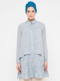 Blue - Multi - Point Collar - Tunic