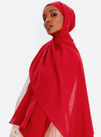 Aden Cotton Shawl - Red