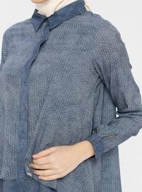 Indigo - Multi - Point Collar - Tunic