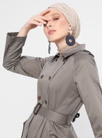 Smoke - Unlined - Point Collar - Cotton - Topcoat