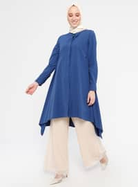 Indigo - Point Collar - Cotton - Tunic