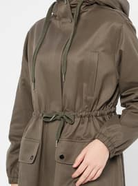 Khaki - Fully Lined - Cotton - Topcoat