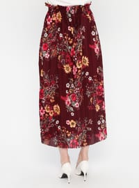 Cherry - Floral - Unlined - Skirt