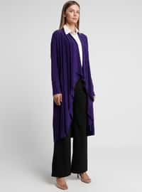 Purple - Shawl Collar - Cardigan