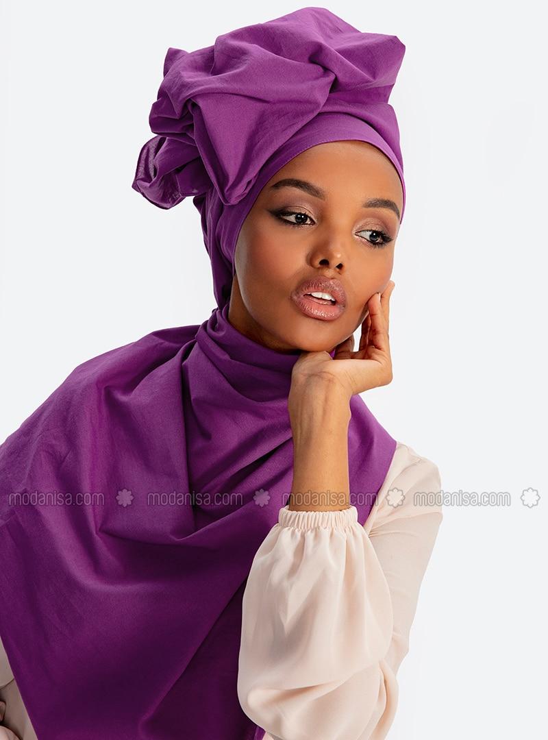 Aden Cotton Shawl - Grape