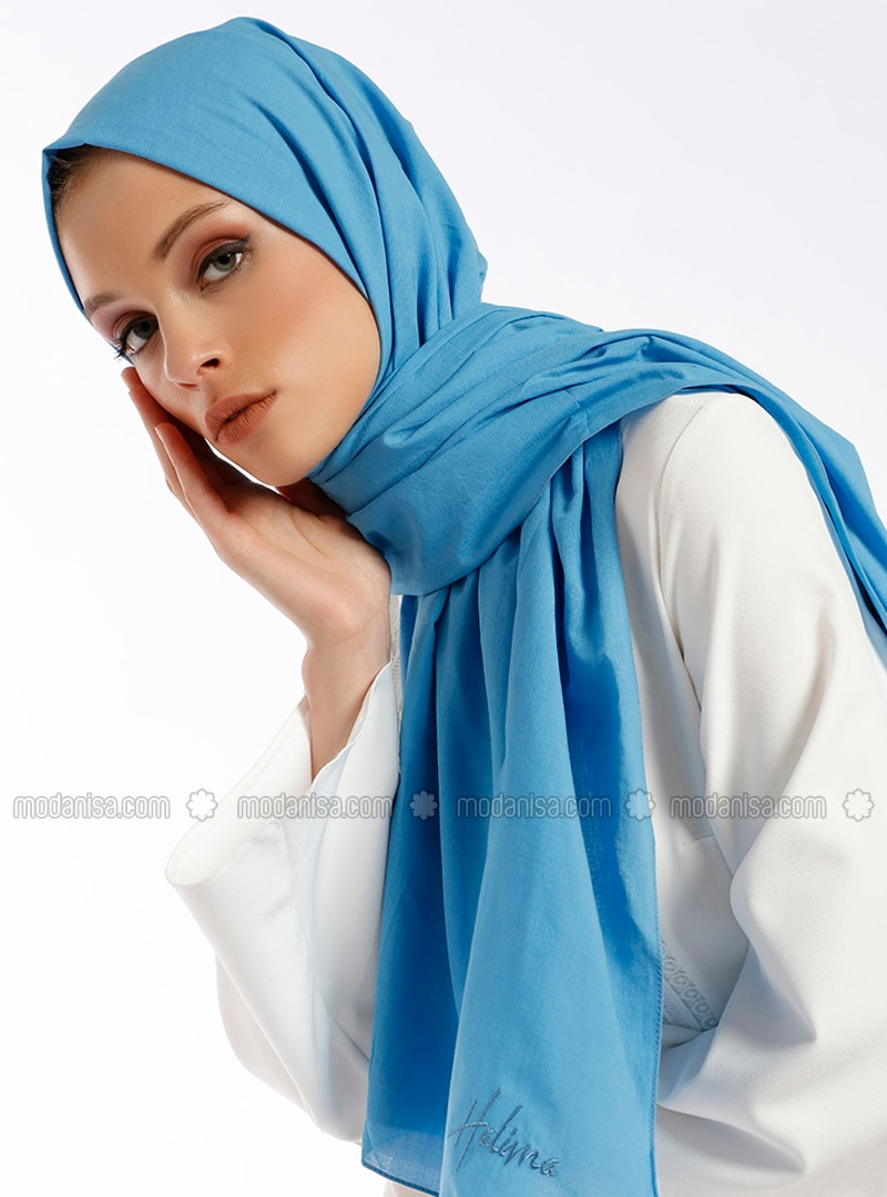 Aden Cotton Shawl - Blue