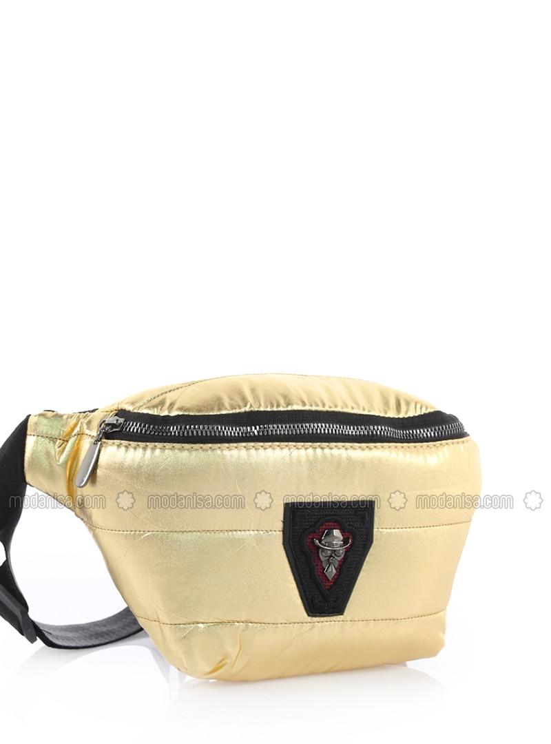 Gold - Satchel - Crossbody - Bum Bag