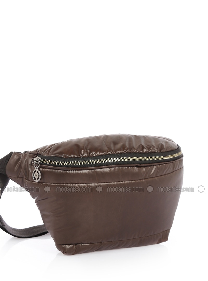 Brown - Satchel - Crossbody - Bum Bag