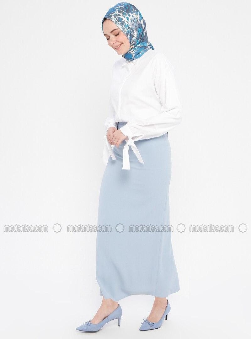 Blue - Fully Lined - Skirt