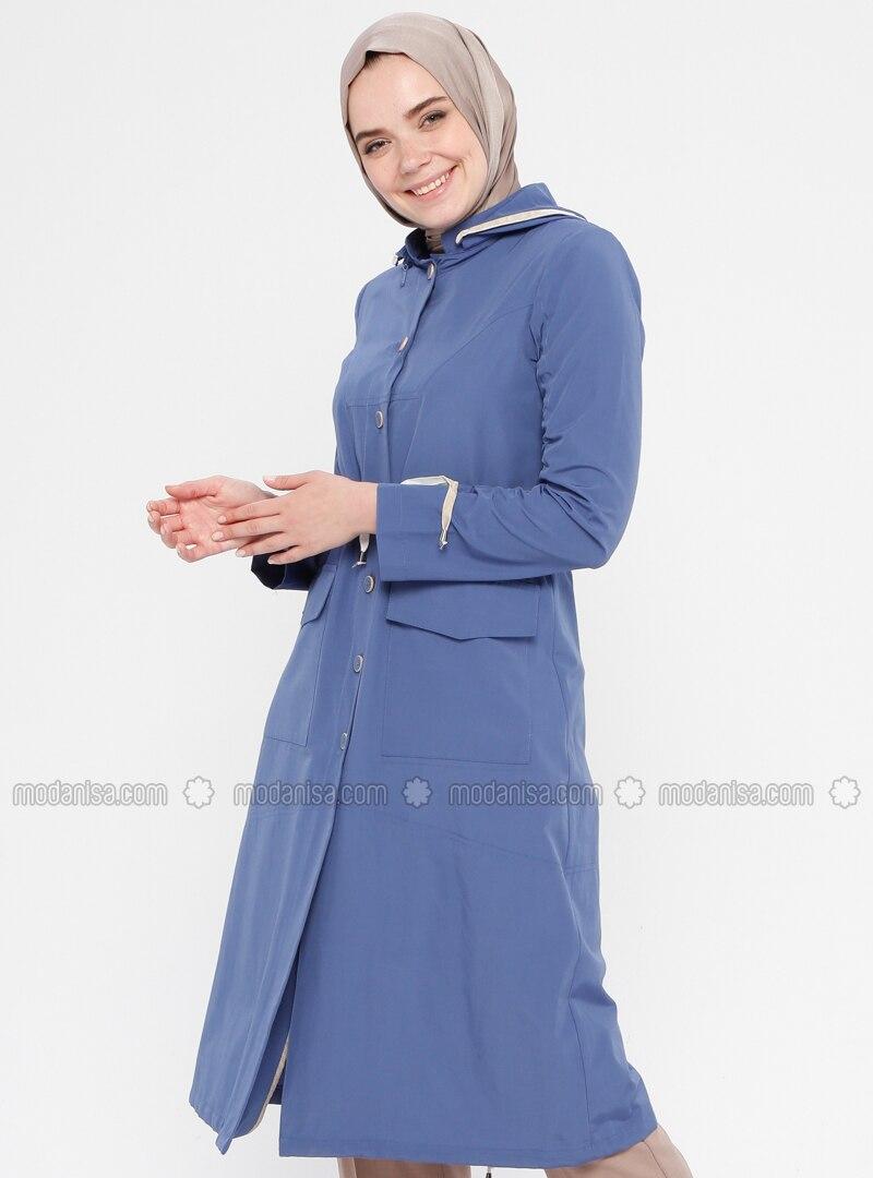 Indigo - Cotton - Topcoat